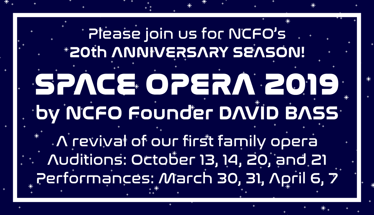 2019 Space Opera Auditions Information | North Cambridge Family